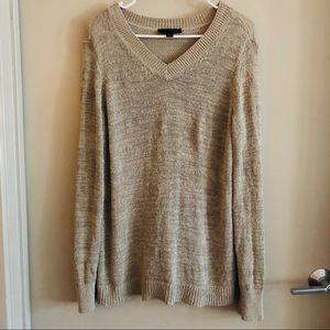 Ann Taylor taupe summer knit sweater